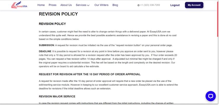 revision policy essayusa