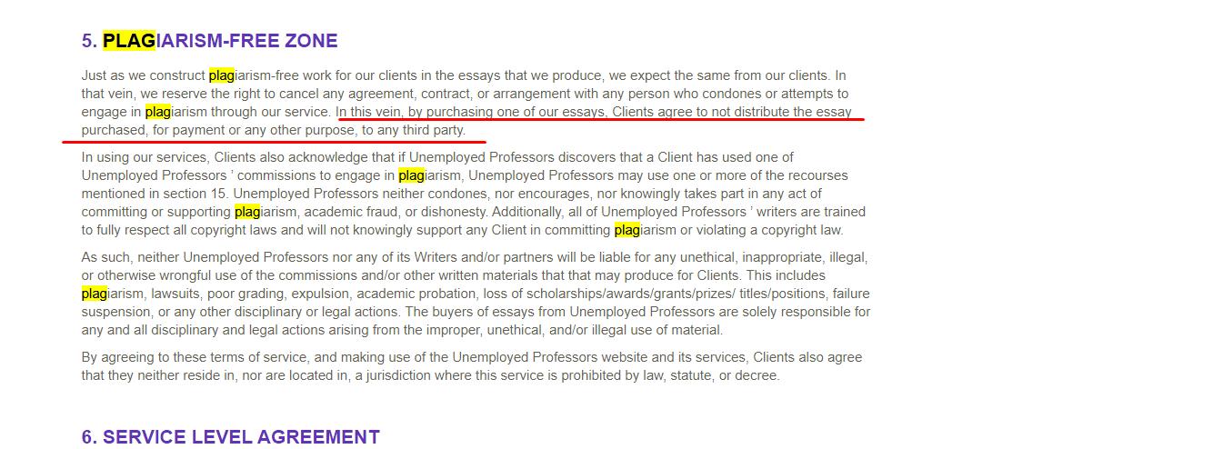 unemployed professors plagiarism