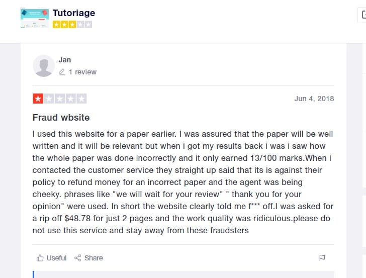 tutoriage review