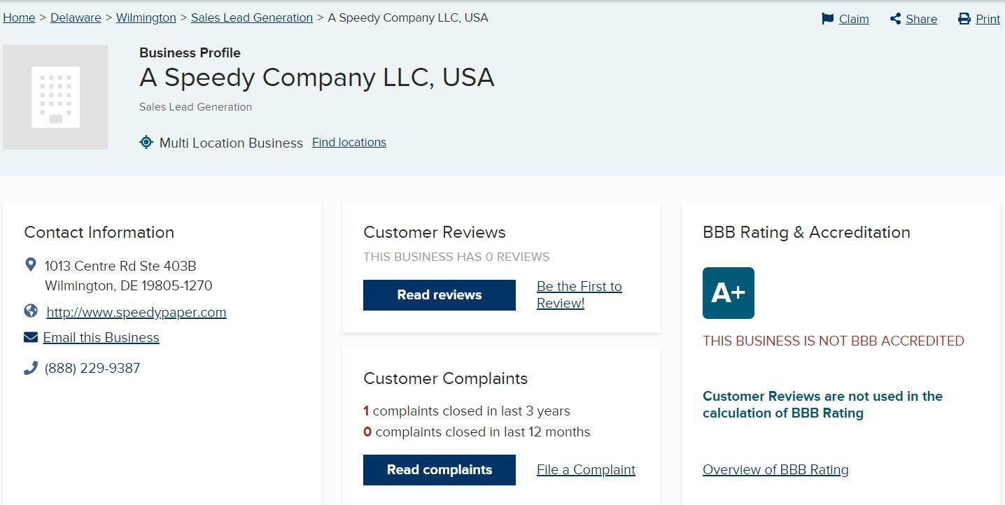 Speedy Company LLC – Company Overview