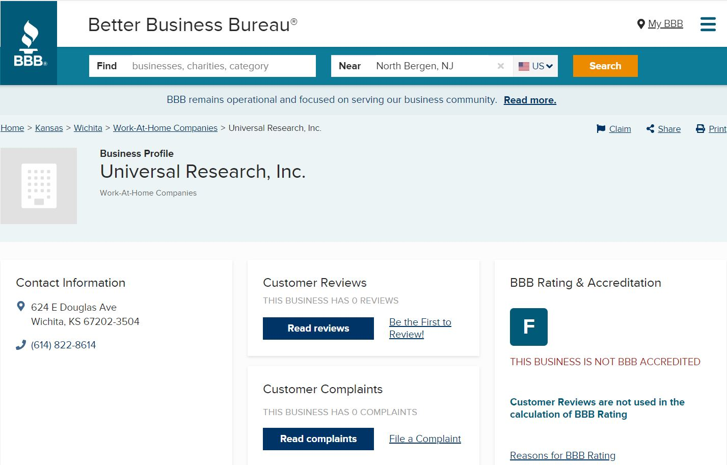Universal Research Inc. – Company Overview